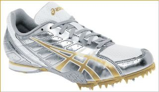 Hyper Rocket Girls 3 Track Spike, Platinum/Metallic Gold/White (GY754