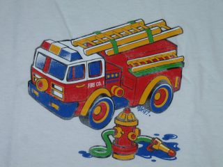 Fireman   Fire Truck Youth T Shirt   (Sizes XS, S, M, or Mens S)