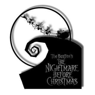 Nightmare Before Christmas Metal Sign Gothic Punk Emo Jack Skellington