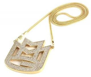 ICED OUT MAYBACH MMG PENDANT w/ 30 & 36 CHAIN NECKLACE RICK ROSS HIP