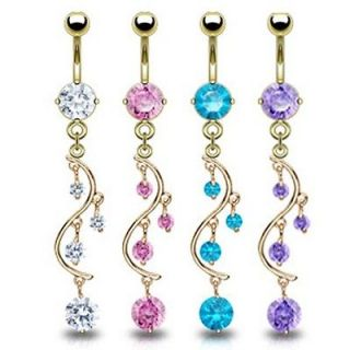 sexy navel rings Body jewelry stainless steel 1PC dangle belly button