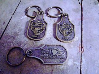 Ohio State Highway Patrol Brass Key Chains OSP