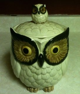Vintage OMC Classic 1950s Owl Cookie Jar with Lid REDUCED PRICE