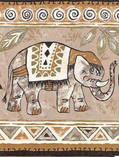 African Animals   Elephant Zebra Tiger Giraffe Sale$ Wallpaper Border