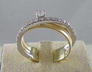 MARCO BICEGO Goa ring diamonds ct .23 3 band brand new