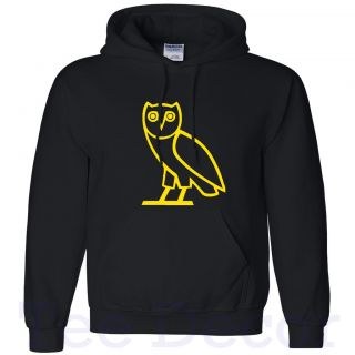 New OVOXO DRAKE OVO Hoodie owl Yellow Logo Hooded Sweatshirt S  5XL