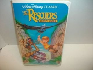 disney The Rescuers Down Under   kids vhs cartoon movie tape