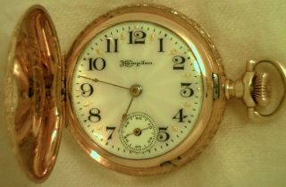 hampden gold pocket watch