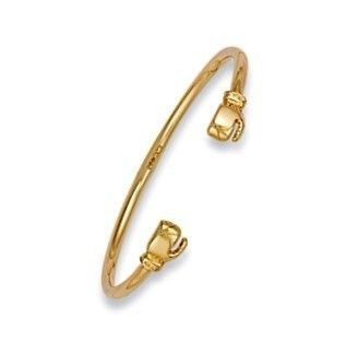 NEW 9ct Yellow Gold Boxing Glove Design Baby Bangle 4.5g Christening