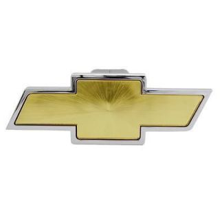 Bully Chevy Bowtie Logo Chrome & Gold Trailer Hitch Receiver Cover