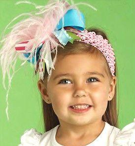 Mud Pie Ostrich Feather Headband   Lilypad Baby or Toddler Headband
