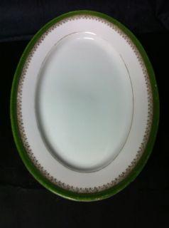 Vintage Imperial Crown China Austria Oval Serving Platter c. 1902