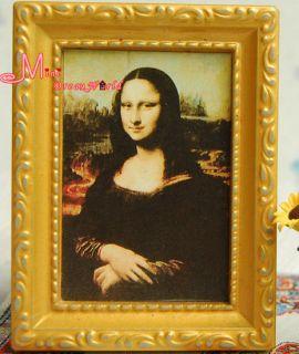 Dollhouse Miniature Framed Classical Painting Mona Lisa