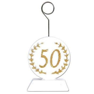 50th Wedding Anniversary Photo / balloon holders decorations supplies