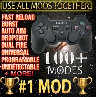 Chrome Xbox 360 1000 Mode Quick Scope Rapid Modded Controller Black