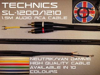 Technics SL 1200/1210 XteX ProteX Audio Phono Cable Lead Neutrik/Van