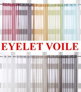 Eyelet Ring Top Voile Net Curtain Panel Extra Long 135 x 240cm 53 x
