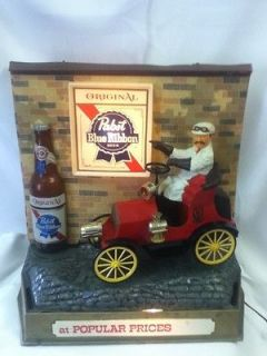 CP7 PABST BEER SIGN LIGHT CAR MOTION JALOPY AUTOMOBILE LIGHTED BACK
