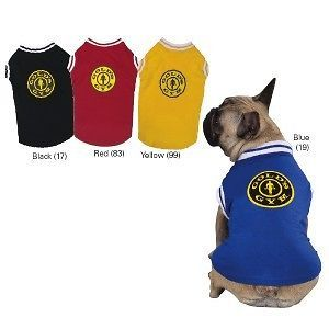 Golds Gym Stretch Tank Top Shirt Dog Apparel LG Black