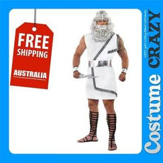 ZEUS GREEK GOD TOGA ADULT MENS FANCY DRESS HALLOWEEN COSTUME
