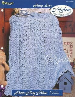 Little Boy Blue Baby Afghan, Baby Love crochet pattern