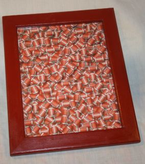 MESSAGE BOARD BROWN FRAME FOOTBALL DRY ERASE BOARD HANDMADE PAINTED
