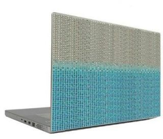 Blue Gradient 10 Crystal Rhinestone Bling Laptop Sticker Sheet Cover