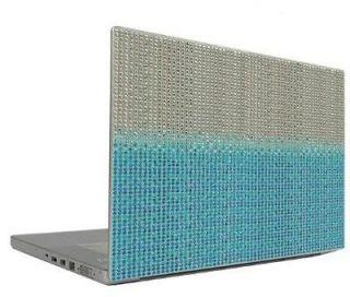 Blue Gradient 10 Crystal Rhinestone Bling Laptop Sticker Sheet Cover