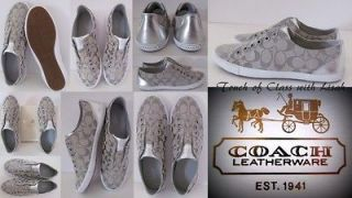 Coach LUCEY SILVER  NO LACE Sneakers Size 9