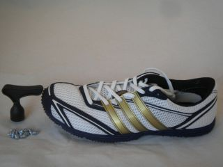 Cadence Long Distance Running Spikes Track & Field Blue Gold Mens