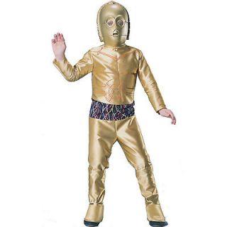 3PO C3PO Star Wars Droid Robot Gold Fantasy Dress Up Halloween Child