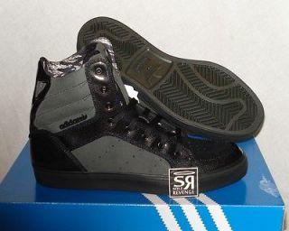 New Adidas Originals Mens CHIZZLE Hi Retro Black White High Tops