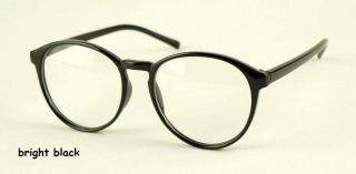 Retro round frame plain glasses fashion plate unisex spectacles of