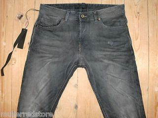 Diesel Black Gold Mens Jeans Excess W28 L30 BG80J Black Ripped