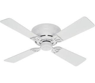 Hunter 23866 Low Profile III White Hugger 42 Ceiling Fan