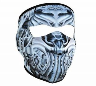 in 1 Reversible Motorcycle Biker, Ski Neoprene FULL Face Mask   Bio