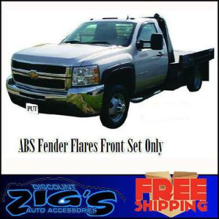 Style Front Fender Wheel Flares For 2007 2013 Chevy Silverado Dually
