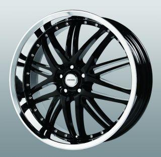22 inch Verde Kaos Black Wheels Rims 5x4.5 G37 I35 M35 M45 Q45 EX35