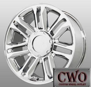 20 Chrome Replica Platinum Wheels 6x139.7 6 Lug Chevy GMC Titan Tundra