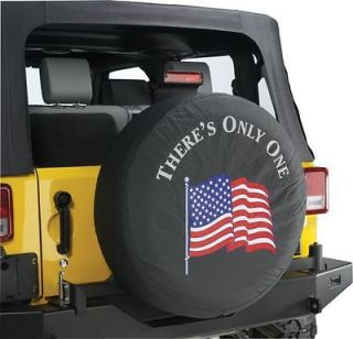 Jeep Wrangler  THERES ONLY ONE  Spare Tire Cover 32 33 Inch Mopar