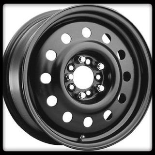 83B BLACK MOD 5X112 MERCEDES AUDI S500 MATTE BLACK STEEL WHEELS RIMS