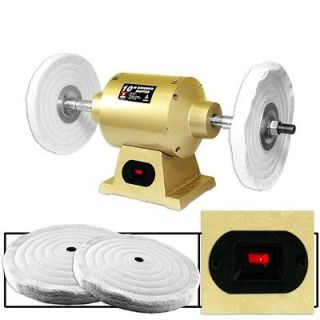 Pro Grade 2.35 Amp 6 Inch Bench Grinder Buffer with 2 Buffering Wheels