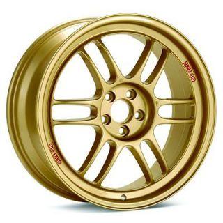 17 ENKEI RPF1 GOLD RIMS WHEELS HONDA S2000 17x9 +45 5x114.3