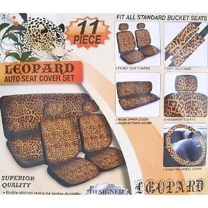Seat Covers FULL SET Steering Wheel Bench Seat CHEETAH Must Have