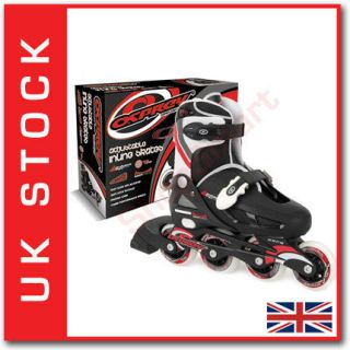 ADJUSTABLE BOYS & GIRLS 4 WHEEL INLINE ROLLER SKATES BLADES SIZES 12 4