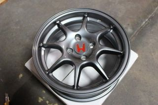 NEW JDM ITR WHEELS 4X100 15 GUNMETAL INTEGRA TYPE R HONDA ACURA RIMS