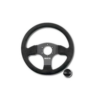 330 MM BLACK SUEDE WRAP STEERING WHEEL W / HORN BUTTON 6 BOLT PATTERN