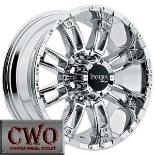 20 Chrome Incubus Crusher Wheels Rims 5x127 5 Lug Chevy GMC C1500 Jeep