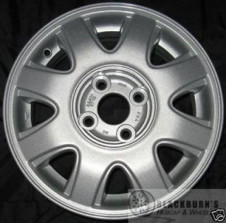CHEVY AVEO 14 4X100MM SILVER 8 SPOKE WHEEL USED OEM FACTORY RIM 5180