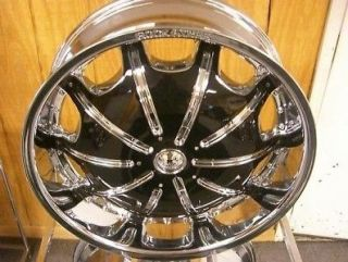 26 INCH RIMS AND TIRES WHEELS CHROME ROCKSTAR 557 PKG